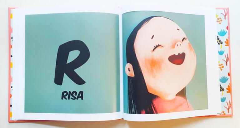 """Letra R abecedario del libro """"Un achuchón de letras"""""""