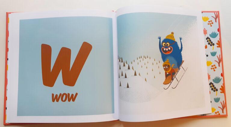 """Letra w abecedario del libro """"Un achuchón de letras"""""""